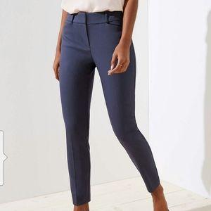 LOFT Marisa Skinny Ankle Pants Grey Sz 0